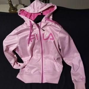 Women's Fila hoodie pink size large